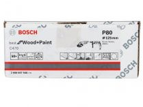 50x Brusný papír Bosch Best for Wood and Paint C470 125mm, hr.80
