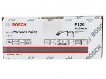 50x Brusný papír Bosch Best for Wood and Paint C470 125mm, hr.120