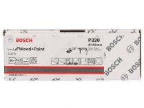 50x Brusný papír Bosch Best for Wood and Paint C470 150mm, hr.320