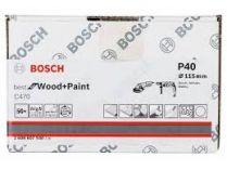 50x Brusný papír Bosch Best for Wood and Paint C470 115mm, hr.40