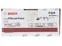 50x Brusný papír Bosch Best for Wood and Paint C470 115mm, hr.320