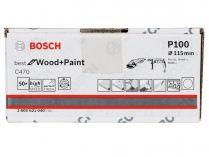 50x Brusný papír Bosch Best for Wood and Paint C470 115mm, hr.100
