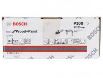 50x Brusný papír Bosch Best for Wood and Paint C470 125mm, hr.100