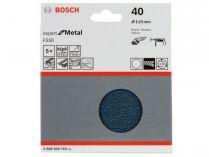 5x Brusný papír Bosch Expert for Metal F550 115mm, hr.40