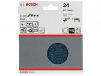 5x Brusný papír Bosch Expert for Metal F550 115mm, hr.24