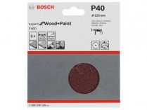 5x Brusný papír Bosch Expert for Wood and Paint F460 125mm, hr.40
