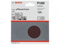 5x Brusný papír Bosch Expert for Wood and Paint F460 125mm, hr.180