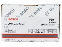50x Brusný papír Bosch Best for Wood and Paint C470 93mm, hr.60