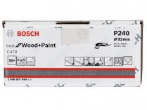 50x Brusný papír Bosch Best for Wood and Paint C470 93mm, hr.240