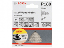 5x Brusná mřížka Bosch Best for Wood and Paint M480 93mm, hr.180