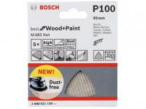 5x Brusná mřížka Bosch Best for Wood and Paint M480 93mm, hr.100
