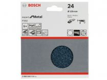5x Brusný papír Bosch Expert for Metal F550 125mm, hr.24