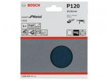 5x Brusný papír Bosch Expert for Metal F550 125mm, hr.120
