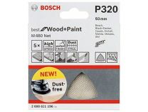 5x Brusná mřížka Bosch Best for Wood and Paint M480 93mm, hr.400