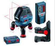 Křížový laser Bosch GLL 3-50 Professional + držák BM 1, laserový přijímač LR 2 + L-Boxx