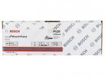 50x Brusný papír Bosch Best for Wood and Paint C470 93x186mm, hr.120, 8 otvorů