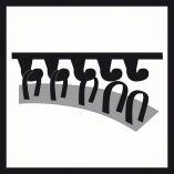 10x Brusný papír - brusivo pro vibrační brusky Bosch Best for Wood and Paint C470 115x107mm, hr. 40, 6 otvorů (2608607455) Bosch příslušenství