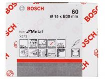 50x Brusný návlek Bosch Best for Metal X573 15x30mm, zr.60
