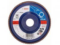 Lamelový brusný kotouč Bosch Expert for Metal X551 125mm, zr.80, šikmý
