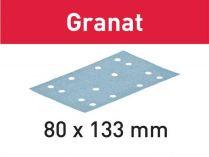 100x Brusný papír Festool Granat - 80x133mm, zr.100