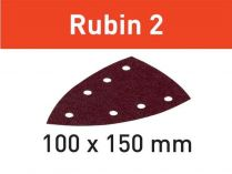 10x Brusný papír Festool Rubin 2 - 100x150mm, zr.100