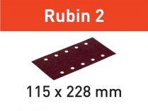 50x Brusný papír Festool Rubin 2 - 115x228mm, zr.100