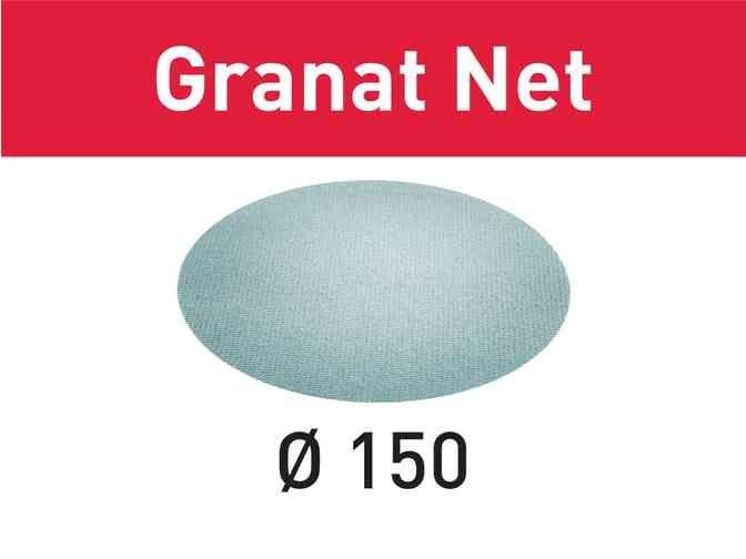50x Brusná mřížka - brusivo pro excentrické brusky Festool RO 150, ES 150, ETS 150, ETS EC 150, LEX 150, WTS 150, HSK-D 150 (Festool Granat Net STF D150 P220 GR NET/50) 180mm, zr. 220 (203308)