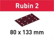 10x Brusný papír Festool Rubin 2 - 80x133mm, zr.220