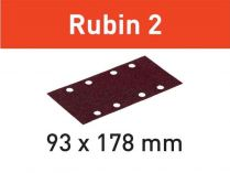 50x Brusný papír Festool Rubin 2 - 93x178mm, zr.60