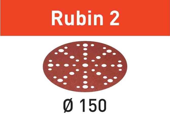 50x Brusný papír - brusivo pro brusky Festool RO 150, ES 150, ETS 150, ETS EC 150, LEX 150, WTS 150, HSK-D 150 (Festool Rubin 2 STF D220/48 P80 RU2/50) 150mm, zr. 80 (575188)