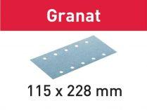 100x Brusný papír Festool Granat - 115x228mm, zr.150