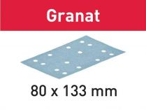 100x Brusný papír Festool Granat - 80x133mm, zr.180