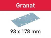 50x Brusný papír Festool Granat - 93x178mm, zr.60
