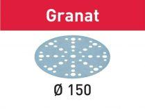 100x Brusný papír Festool Granat - 150mm, zr.400