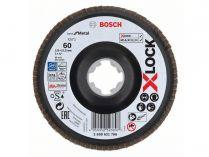 Lamelový brusný kotouč X-LOCK Bosch Best for Metal 125mm, zr.80, lomený