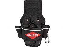 Pouzdro na nářadí na opasek KNIPEX s přihrádkami až na 8 nástrojů, polyester a kůže, karabina
