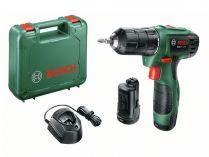 Bosch EasyDrill 1200 - 2x 12V/1.5Ah, 20Nm, 1kg, kufr, aku vrtačka bez příklepu