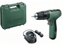 Bosch EasyImpact 1200 - 1x 12V/1.5Ah, 30Nm, kufr, aku vrtačka s příklepem