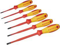 6-dílná sada elektrikářských S/PH VDE šroubováků KNIPEX, 1x plochý, 3x plochý slim, 2x křížový slim