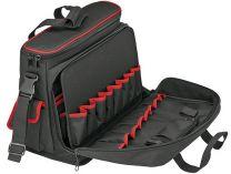 """Brašna na nářadí KNIPEX """"VDE standard"""" - 440×200×340mm, přední kapsa otevíratelná na 90° s 8 kapsami"""