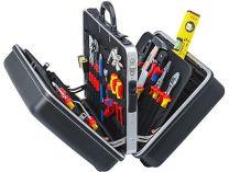 """Kufr na nářadí KNIPEX """"BIG Twin"""" Elektro - 490×255×410mm, 21ks značkového nářadí, ABS plast"""