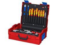 Box na nářadí KNIPEX L-BOXX® Sanita - 442×151×357mm, osazen 52 kusy značkového nářadí, ABS plast