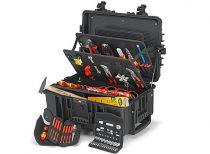 """Kufr na nářadí KNIPEX """"Robust45"""" - 609×263×428mm, osazeno 63 kusy značkového nářadí"""