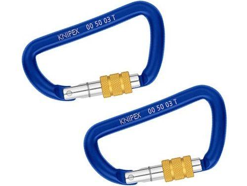 KNIPEX T BK Karabina - ke spojení smyčky adaptéru a záchytné šňůry nebo k jejich připevnění na fixačním bodě, 2ks (005003TBK)