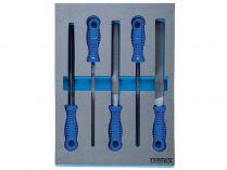 5 dílná sada dílenských pilníků Narex 200 mm