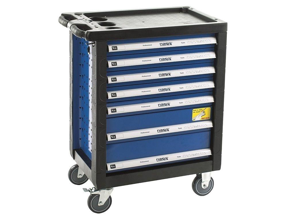 Dílenský vozík (montážní skříň) prázdná Narex - 7 zásuvek, 57kg (443000971) Narex Professional