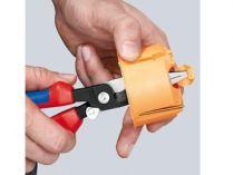 KNIPEX - multifunkční kleště pro elektroinstalace - 200mm - na plochý i kulatý materiál, na měděné a hliníkové kabely do 5x2.5mm², Ø15mm (1381200)