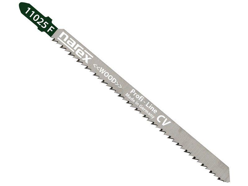 3x Pilový plátek (list) na dřevo pro přímočaré - kmitací pily Narex SBN 11025 F - 132mm, CV (65404403)
