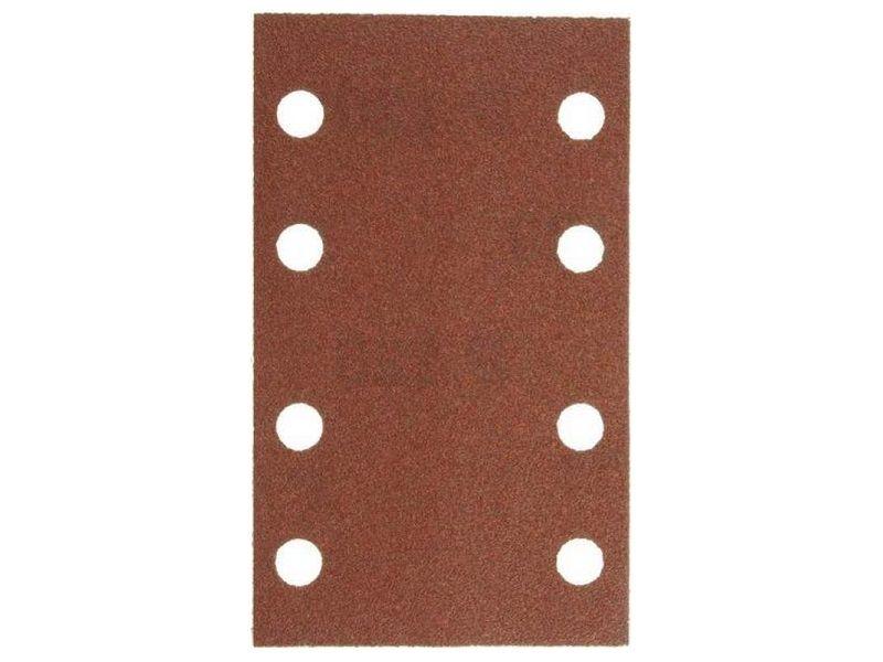 10x Brusný papír - brusivo pro vibrační brusku Narex EBV 130 E (Narex BP-EBV) 80x133mm, zr.100 (00632178)