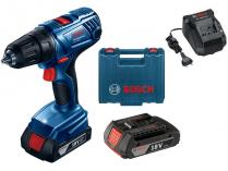 Bosch GSR 180-LI Professional - 2x 18V/2.0Ah, 54Nm, 2 rychl., 1.6kg, kufr, aku vrtačka bez příklepu